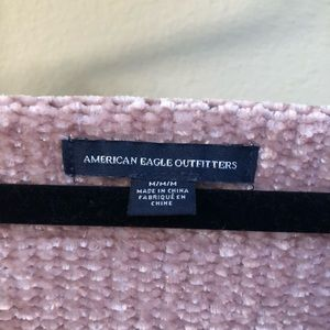 American Eagle Outfitters Sweaters - American Eagle Pink Ruffle Sweater
